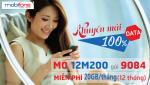 Đăng ký gói cước 12M200 Mobifone ưu đãi data thả ga lướt web cả năm