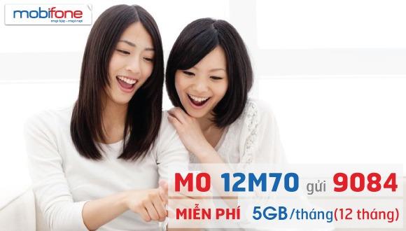 Đăng ký gói cước 12M70 Mobifone ưu đãi data thả ga lướt web cả năm