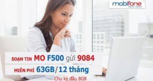 Đăng ký gói cước F500 Mobifone ưu đãi 63GB/12 tháng
