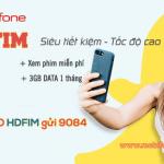 Cách đăng ký gói HDFIM Mobifone nhận 3GB data và miến phí data xem phim