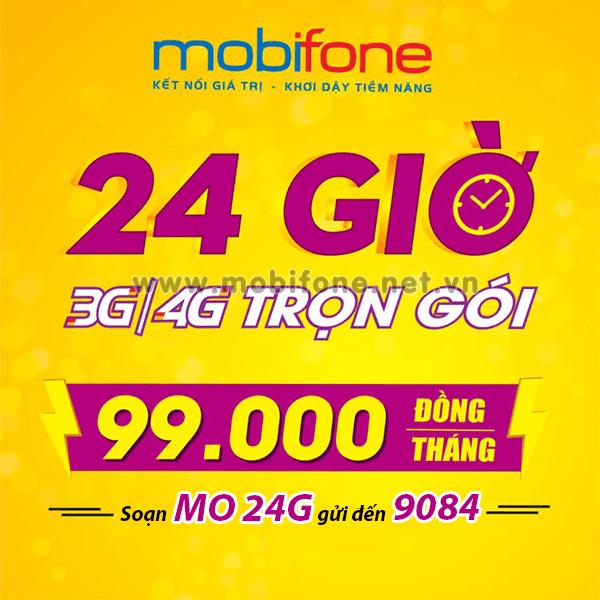 Đăng ký gói cước 24G Mobifone ưu đãi 2GB x 30 ngày = 60GB