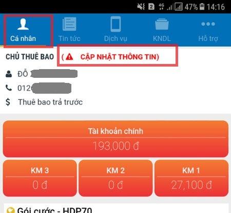 Cách cập nhật đăng ký thông tin chính chủ MobiFone Online theo nghị định 49