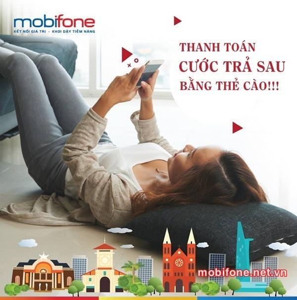 Cách thanh toán cước trả sau Mobifone bằng thẻ cào cực kỳ đơn giản