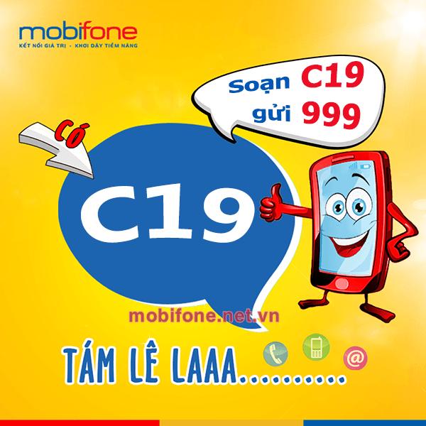 Đăng ký gói C19 Mobifone chỉ 19.000đ/tháng