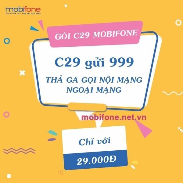 Đăng ký gói cước C29 Mobifone chỉ 29.000đ/tháng