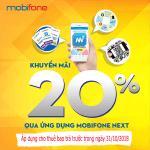 Mobifone khuyến mãi trực tuyến 31/10/2018 áp dụng nạp tiền qua Mobifone NEXT