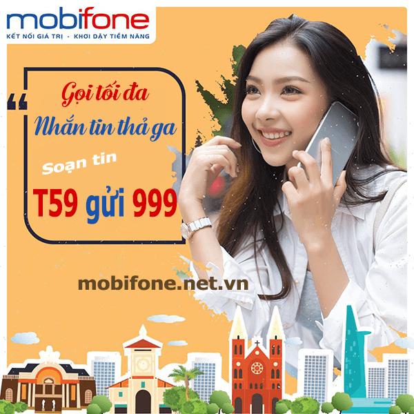 Đăng ký gói cước T59 Mobifone chỉ 59.000đ/lần đăng ký