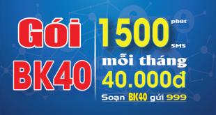 Đăng ký gói cước BK40 mobifone chỉ 40.000đ/lần đăng ký
