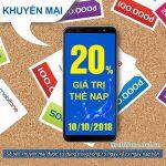 Mobifone khuyến mãi 10/10/2018 ưu đãi ngày vàng