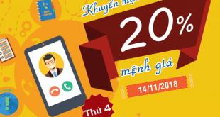 Mobifone khuyến mãi 14/11/2018