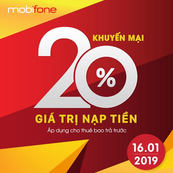 Mobifone khuyến mãi 16/1/2019 ưu đãi ngày vàng