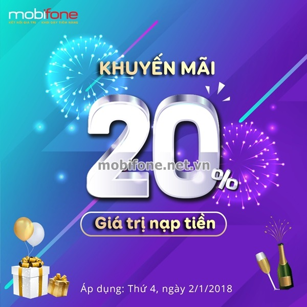 Mobifone khuyến mãi 2/1/2019 ưu đãi ngày vàng