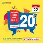 Mobifone khuyến mãi 22/1/2019 ưu đãi cục bộ