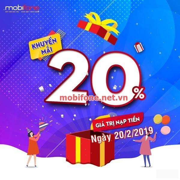 Mobifone khuyến mãi 20/2/2019 ưu đãi ngày vàng