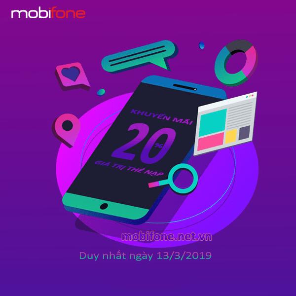 Mobifone khuyến mãi 13/3/2019 ưu đãi ngày vàng toàn quốc