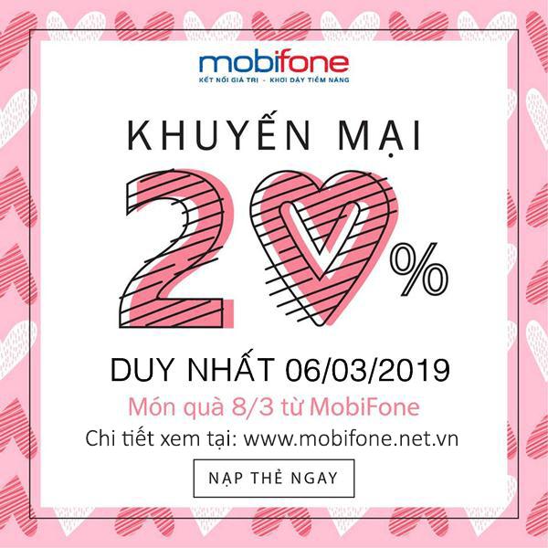 Mobifone khuyến mãi 6/3/2019 ưu đãi ngày vàng toàn quốc