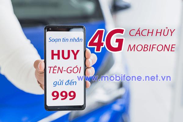 Hướng dẫn cách hủy 4G Mobifone - Hủy gia hạn gói 4G Mobifone mới nhất