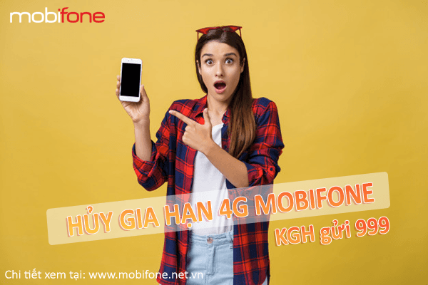 Hướng dẫn cách hủy gia hạn gói cước 4G Mobifone bằng tin nhắn