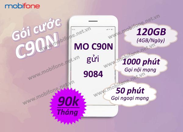 Đăng ký gói C90N Mobifone nhận ngay data, gọi thoại siêu hấp dẫn