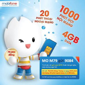 Đăng ký gói M79 Mobifone chỉ 79.000đ nhận 4GB data gọi thoại thả ga