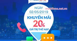 Mobifone khuyến mãi 2/5/2019 ưu đãi ngày vàng toàn quốc