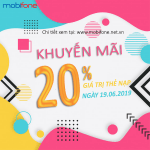 Mobifone khuyến mãi 19/6/2019 ưu đãi NGÀY VÀNG di động trả trước