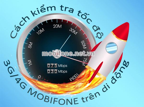 Hướng dẫn đo tốc độ mạng 3G/4G Mobifone trên di động bằng ứng dụng Speed Test