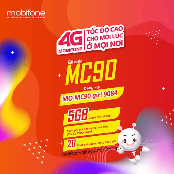 Đăng ký gói MC90 Mobifone chỉ 90.000đ thả ga dùng data và gọi thoại