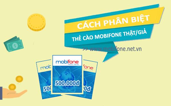 Hướng dẫn phân biệt thẻ cảo Mobifone giả/thật bằng cách đơn giản nhất