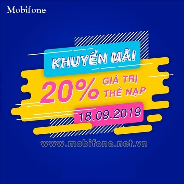 Mobifone khuyến mãi 18/9/2019 ưu đãi NGÀY VÀNG trên toàn quốc