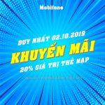 Mobifone khuyến mãi 2/10/2019 ưu đãi NGÀY VÀNG trên toàn quốc