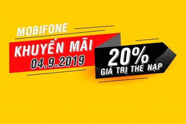 Mobifone khuyến mãi 4/9/2019 ưu đãi NGÀY VÀNG trên toàn quốc