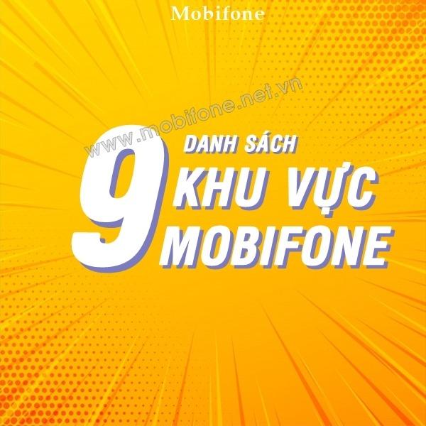 Danh sách 9 khu vực Mobifone phân chia theo địa lý