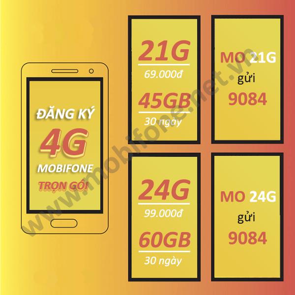 Đăng ký gói cước 4G Mobifone trọn gói try cập Internet không giới hạn