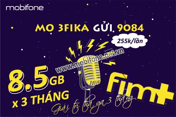 Đăng ký gói 3FIKA Mobifone nhận ngay data khủng và giải trí thả ga suốt 3 tháng