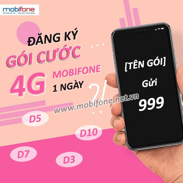 Cách đăng ký gói cước 4G Mobifone 1 ngày giá rẻ ưu đãi hấp dẫn