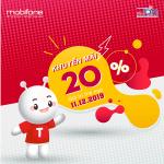 Mobifone khuyến mãi 11/12/2019 ưu đãi NGÀY VÀNG tặng 20% giá trị