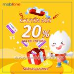 Mobifone khuyến mãi 25/12/2019 ưu đãi NGÀY VÀNG trên toàn quốc