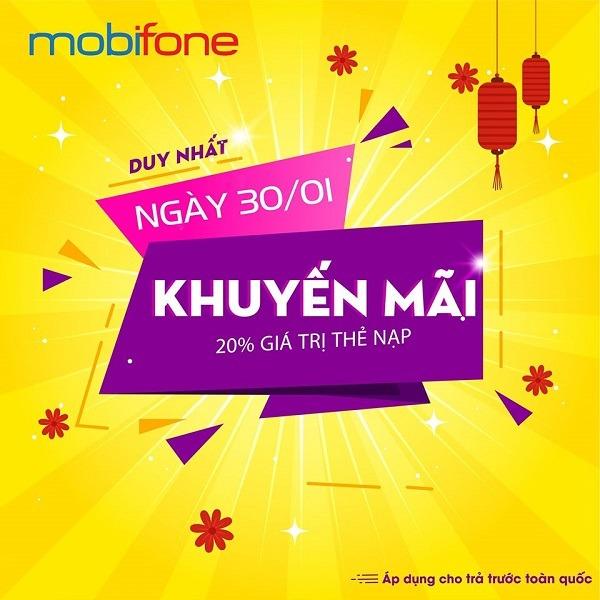 Mobifone khuyến mãi 30/1/2020 ưu đãi NGÀY VÀNG toàn quốc