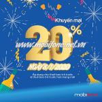 Mobifone khuyến mãi 8/1/2020 ưu đãi NGÀY VÀNG tặng 20% giá trị tiền nạp