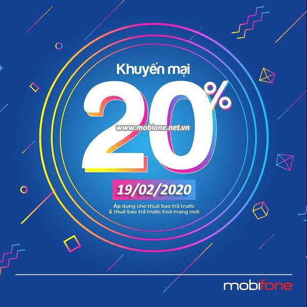 Mobifone khuyến mai 19/2/2020 ưu đãi NGÀY VÀNG