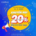 Mobifone khuyến mãi 11/3/2020 ưu đãi NGÀY VÀNG trên toàn quốc