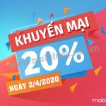 Mobifone khuyến mãi 2/4/2020 ưu đãi NGÀY VÀNG toàn quốc