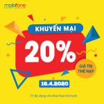 Mobifone khuyến mãi 16/4/2020 ưu đãi NGÀY VÀNG toàn quốc