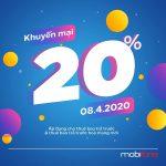 Mobifone khuyến mãi 8/4/2020 ưu đãi NGÀY VÀNG toàn quốc