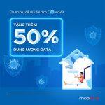 Mobifone tặng 50% dung lượng data 3G/4G