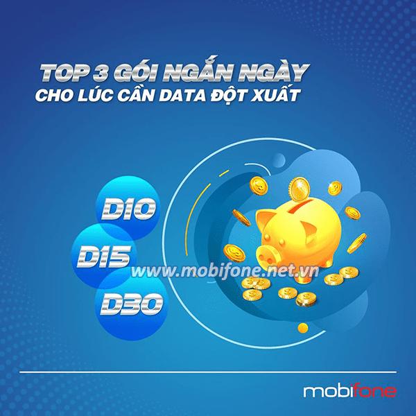 TOP 3 gói 4G Mobifone ngắn ngày được đăng ký sử dụng nhiều nhất