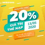 Mobifone khuyến mãi 13/5/2020 ưu đãi NGÀY VÀNG toàn quốc
