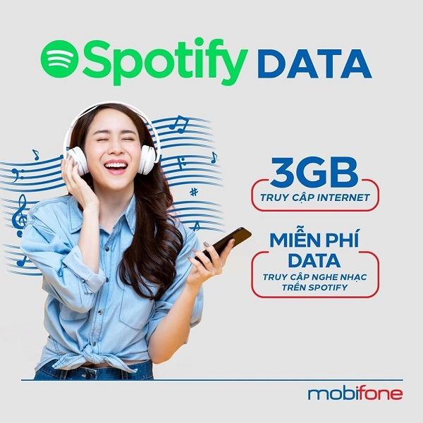 Cách đăng ký gói SF80 Mobifone nhận ngay 3GB data miễn phí dung lượng vào Spotify