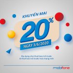 Mobifone khuyến mãi 3/6/2020 ưu đãi NGÀY VÀNG toàn quốc